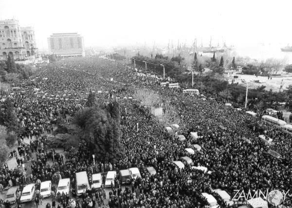 Баку көшелеріне он мыңдаған халық наразалыққа шықты